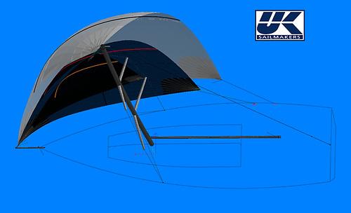 Flying headsail Shape shot