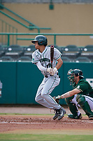 Dartmouth Big Green shortstop Bryce Daniel (20) at bat during a game against the USF Bulls on March 17, 2019 at USF Baseball Stadium in Tampa, Florida.  USF defeated Dartmouth 4-1.  (Mike Janes/Four Seam Images)