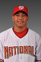 14 March 2008: ..Portrait of Francisco Plasencia, Washington Nationals Minor League player at Spring Training Camp 2008..Mandatory Photo Credit: Ed Wolfstein Photo