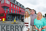 Kelly Ann, Tony and Pauline  McSweeney who are celebrating seventy years of business at the McSweeney Arms Hotel Killarney