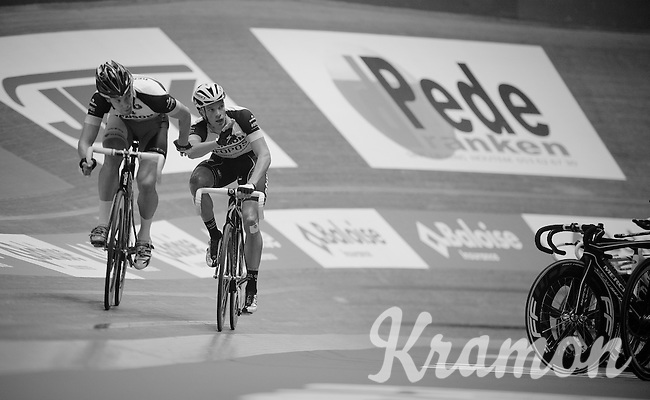 Iljo Keisse (BEL) launches teammate Wim Stroetinga (NLD) to succesfully put a lap into the competition<br /> <br /> Gent6 2013