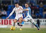 St Johnstone v Ross County… McDiarmid Park..     SPFL<br />Tim Chow and Chris Kane<br />Picture by Graeme Hart.<br />Copyright Perthshire Picture Agency<br />Tel: 01738 623350  Mobile: 07990 594431