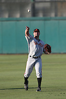 Tyler Horan (50) of the San Jose Giants throws before a game against the Inland Empire 66ers at San Manuel Stadium on May 30, 2015 in San Bernardino, California. Inland Empire defeated San Jose, 6-4. (Larry Goren/Four Seam Images)