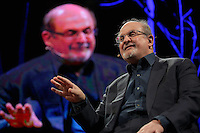 Pictured: Salman Rushdie Monday 30 May 2016<br />Re: Hay Festival, Hay on Wye, Wales, UK