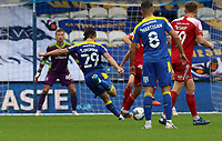 Ryan Longman of AFC Wimbledon shot goes wide during AFC Wimbledon vs Accrington Stanley, Sky Bet EFL League 1 Football at The Kiyan Prince Foundation Stadium on 3rd October 2020