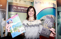 Carolyn Black from Banbridge Tourist Office The Holiday World Show RDS Simmonscourt which runs from Friday 25th- Sunday 27th Jan. Celebrating its 24th year the show will attract 50,000 people over the course of the three days. Expos from all over the world including Cuba, Abu Dhabi and real life eagles can all been seen. Collins Photos 25/1/13