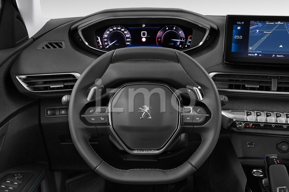 Car pictures of steering wheel view of a 2021 Peugeot 3008 Allure 5 Door SUV Steering Wheel