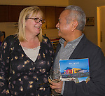 """Bonnie and Andy Barron during the Reno Magazine """"Bubbles Tasting"""" event at Total Wine in Reno on Friday night, February 9, 2018."""