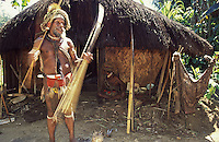 Oceania, Papua New Guinea, Pacific,Huli village chief