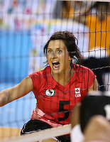 Toronto, Ontario, August 9, 2015. Canada vs USA seated Volleyball 2015 Parapan Am Games . Photo Scott Grant/Canadian Paralympic Committee