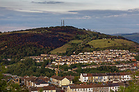 Pictured: The area that was burned on Kilvey Hill over the Saint Thomas area of Swansea. Wednesday 22 May 2019<br /> Re: General view of Swansea, Wales, UK