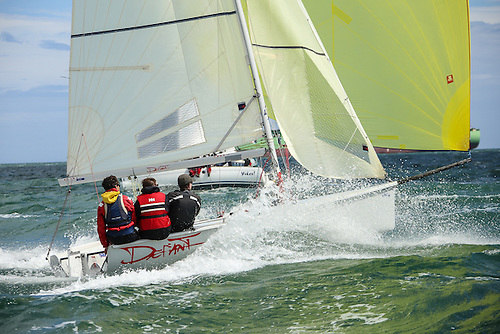 SB20 Sportsboat racing on Dublin Bay pre-COVID Photo: Afloat