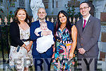The christening of Andrea Maisie O'Sullivan from Tralee in St Johns Church, Tralee on Sunday. L to r: Fiona Raymond (GM), Luke O'Sullivan and Emer O'Sullivan and Anthony O'Sullivan (GF).