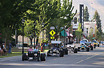 Unique cars participate in the Geared Cruise in downtown Carson City, Nev., on Saturday, June 24, 2017. <br /> Photo by Cathleen Allison