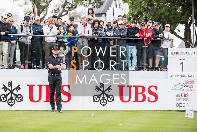 Robert Karlsson of Sweden gets ready to tee off during the day three of UBS Hong Kong Open 2017 at the Hong Kong Golf Club on 25 November 2017, in Hong Kong, Hong Kong. Photo by Yu Chun Christopher Wong / Power Sport Images