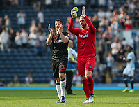 Bolton Wanderers' Andrew Taylor and Ben Alnwick applaud their side's travelling supporters at the end of the match  <br /> <br /> Photographer Andrew Kearns/CameraSport<br /> <br /> The EFL Sky Bet Championship - Blackburn Rovers v Bolton Wanderers - Monday 22nd April 2019 - Ewood Park - Blackburn<br /> <br /> World Copyright © 2019 CameraSport. All rights reserved. 43 Linden Ave. Countesthorpe. Leicester. England. LE8 5PG - Tel: +44 (0) 116 277 4147 - admin@camerasport.com - www.camerasport.com