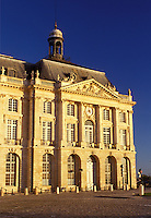 Bordeaux, France, Gironde, Aquitaine, Europe, Bourse de Commerce in the city of Bordeaux. Famous wine region.