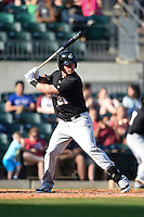 San Antonio Missions outfielder Lee Orr (21) at bat during a game against the Arkansas Travelers on May 25, 2014 at Dickey-Stephens Park in Little Rock, Arkansas.  Arkansas defeated San Antonio 3-1.  (Mike Janes/Four Seam Images)
