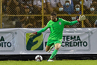 SAN SALVADOR, EL SALVADOR - SEPTEMBER 2: Matt Turner #1 of the United States passes the ball during a game between El Salvador and USMNT at Estadio Cuscatlán on September 2, 2021 in San Salvador, El Salvador.