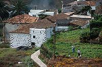 Spanien, Kanarische Inseln, Gomera, Dorf bei Vallehermoso