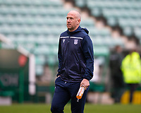 15th November 2020; Easter Road, Edinburgh, Scotland; Scottish League Cup Football, Hibernian versus Dundee FC; Charlie Adam of Dundee inspects the pitch before the match