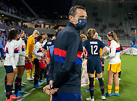 ORLANDO, FL - FEBRUARY 24: Vlatko Andonovski of the USWNT looks to the field before a game between Argentina and USWNT at Exploria Stadium on February 24, 2021 in Orlando, Florida.
