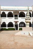 Senegal, Touba.  Courtyard, Al-Azhar Koranic School.