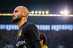 09.08.2019, Merkur Spiel-Arena, Düsseldorf, GER, DFB Pokal, 1. Hauptrunde, KFC Uerdingen vs Borussia Dortmund , DFB REGULATIONS PROHIBIT ANY USE OF PHOTOGRAPHS AS IMAGE SEQUENCES AND/OR QUASI-VIDEO<br /> <br /> im Bild | picture shows:<br /> Oemer Toprak (Borussia Dortmund #36) auf dem Weg zum warmmachen, <br /> <br /> Foto © nordphoto / Rauch
