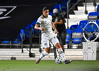 LAKE BUENA VISTA, FL - AUGUST 01: Marvin Loría #44 of the Portland Timbers controls the ball during a game between Portland Timbers and New York City FC at ESPN Wide World of Sports on August 01, 2020 in Lake Buena Vista, Florida.