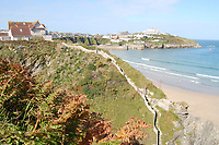 BNPS.co.uk (01202 558833)<br /> Pic: LillicrapChilcott/BNPS<br /> <br /> A dramatic cliff-top property that has stunning views of the Atlantic has gone on the market for £2.5m<br /> <br /> Skerryvore House sits on a rocky peninsula directly above an 80ft drop to the sea in Newquay, Cornwall.<br /> <br /> It is the closest property to Towan Island - a large outcrop that has a house perched on top of it.<br /> <br /> There is a suspension footbridge linking Skerryvore and the mainland to the island.