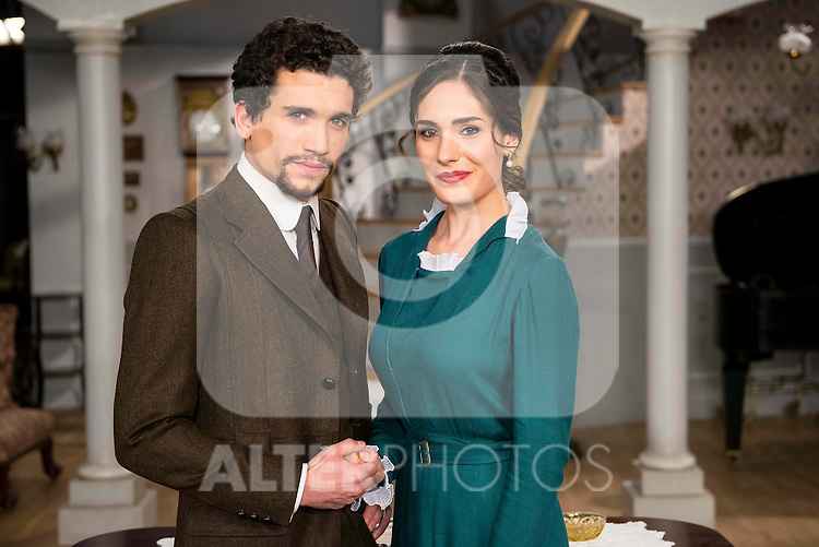 """Jaime Lorente and  Yara Puebla during the presentation of the new characters for the new season of the tv series """"El Secreto de Puente Viejo""""  in Madrid, February 10, Madrid."""