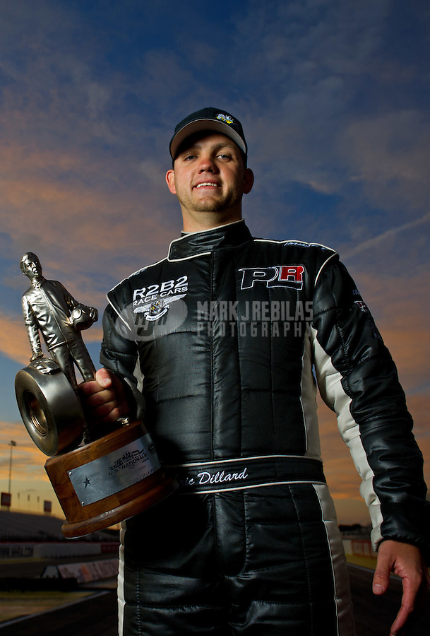 Sept. 5, 2011; Claremont, IN, USA: NHRA pro mod driver Eric Dillard poses for a portrait after winning the US Nationals at Lucas Oil Raceway. Mandatory Credit: Mark J. Rebilas-