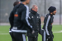 Thursday  21 January 2016<br /> Pictured: Swansea interim Manager, Alan Curtis  <br /> Re: Swansea City Training Session at the Fairwood training ground