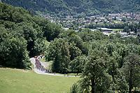 emmediate climbing after the stage start<br /> <br /> Stage 8: Cluses (FRA) to Champéry (SUI)(113km)<br /> 71st Critérium du Dauphiné 2019 (2.UWT)<br /> <br /> ©kramon