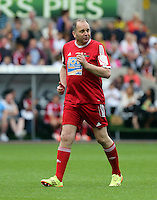 Pictured: Neville Wilshire of tv series The Call Centre. Sunday, 01 June 2014<br /> Re: Celebrities v Celebrities football game organised by Sellebrity Scoccer, in aid of Swansea City Community Trust, at the Liberty Stadium, south Wales.