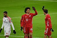 3rd January 2021, Allianz Arean, Munich Germany; Bundesliga Football, Bayern Munich versus FSV Mainz; A happy Leroy SANE (Bayern) with <br />