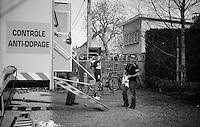 77th Flèche Wallonne 2013..Anti-Dopage Anti-Dopage for Vasili Kiryienka (BLR)