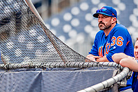 22 September 2018: New York Mets Manager Mickey Callaway watches batting practice prior to a game against the Washington Nationals at Nationals Park in Washington, DC. The Nationals shut out the Mets 6-0 in the 3rd game of their 4-game series. Mandatory Credit: Ed Wolfstein Photo *** RAW (NEF) Image File Available ***
