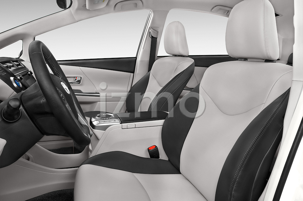 Front seat view of a 2015 Toyota Prius V Four 5 Door MPV front seat car photos