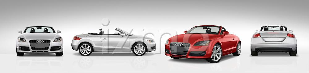 Multiple views of the 2007 - 2010 Audi TT Roadster