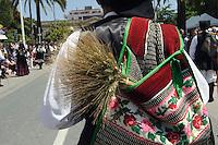 Calvalcata Sarda in  Sassari,  Provinz Sassari, Nord - Sardinien, Italien.Die Cavalcata Sarda ist ein großer Umzug von Folkloregruppen aus ganz Sardinien