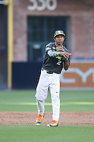 David Hamilton (2) of the West team throws during the 2015 Perfect Game All-American Classic at Petco Park on August 16, 2015 in San Diego, California. The East squad defeated the West, 3-1. (Larry Goren/Four Seam Images)