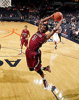 Nov 6, 2010; Charlottesville, VA, USA; Roanoke College Corey Poindexter (3) grads a rebound Saturday afternoon in exhibition action at John Paul Jones Arena. The Virginia men's basketball team recorded an 82-50 victory over Roanoke College.