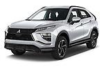 2021 Mitsubishi Eclipse-Cross-PHEV Invite 5 Door SUV Angular Front automotive stock photos of front three quarter view