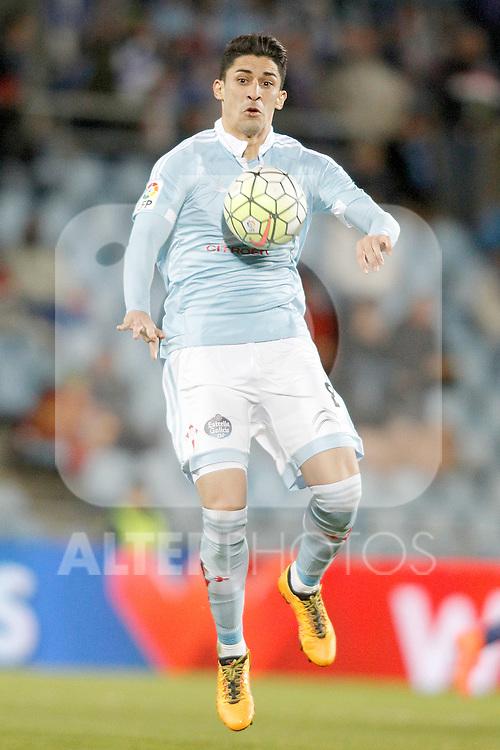 Celta de Vigo's Pablo Hernandez during La Liga match. February 27,2016. (ALTERPHOTOS/Acero)