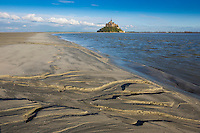 Europe/France/Normandie/Basse-Normandie/50/Manche: Baie du Mont Saint-Michel, classée Patrimoine Mondial de l'UNESCO, Le Mont Saint-Michel  // Europe/France/Normandie/Basse-Normandie/50/Manche: Bay of Mont Saint Michel, listed as World Heritage by UNESCO,  The Mont Saint-Michel