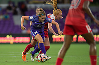 Orlando, FL - Tuesday August 08, 2017: Maddy Evans, Tori Huster during a regular season National Women's Soccer League (NWSL) match between the Orlando Pride and the Chicago Red Stars at Orlando City Stadium.
