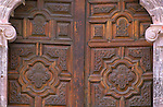 Mexico, Baja California Sur, San Ignacio, Mission San Ignacio Kadakaanman, Mission Door