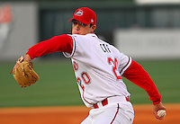 Greenville Drive starting pitcherJordan Craft delivers during the Drive's first home game of the year Monday, April 9, 2007.  Photo by:  Tom Priddy/Four Seam Images