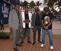 "MIAMI BEACH, FL - JANUARY 28:  (L-R) Michael Irvin, Ray Lewis, Reggie Wayne, and Ed Reed discuss Fox Sports ""The ReUnion"" at the Fox Sports South Beach studio during Super Bowl LIV week on January 29, 2020 in Miami Beach, Florida. (Photo by Frank Micelotta/Fox Sports/PictureGroup)"